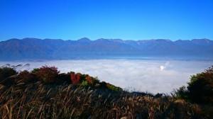 長峰山からみる雲海